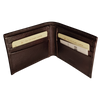 Bifold Wallet - 6 Card - Dark Brown - Italian Calfskin Leather