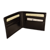 Bifold Wallet - 6 Card - Black - Italian Calfskin Leather