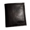 Wallet 'Square' - Black - Italian Calfskin Leather
