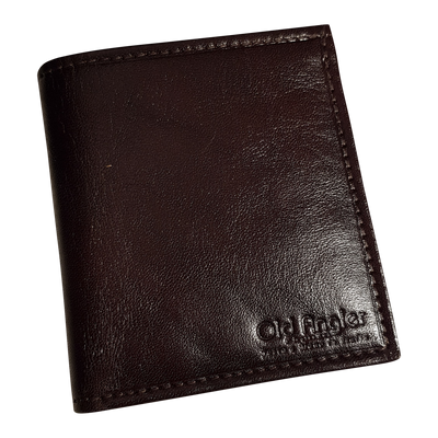 Wallet 'Square' - Dark Brown - Italian Calfskin Leather