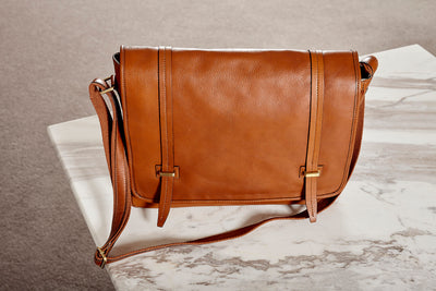 Messenger Bag - Colonial - Italian Calfskin Leather