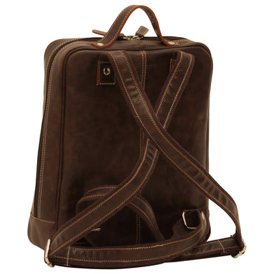 Backpack - Dark Brown - Italian Buffalo Leather