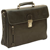 Briefcase - Black - Italian Buffalo Leather