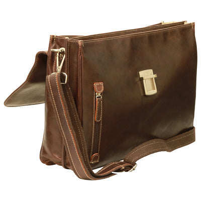 Briefcase - Dark Brown - Italian Buffalo Leather
