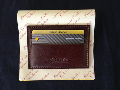 Card Holder - Brown - Italian Calfskin Leather