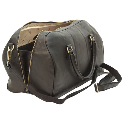 Duffle Bag - Black - Italian Nappa Leather