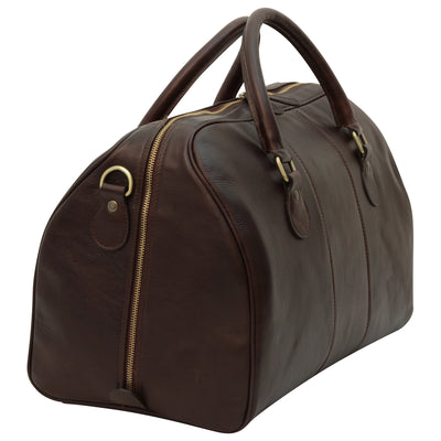 Duffle Bag - Dark Brown - Italian Nappa Leather