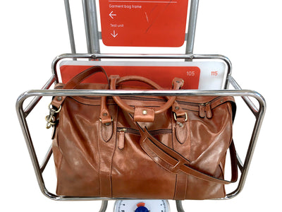 Weekend Travel Bag - Dark Brown - Italian Calfskin Leather - 50cm
