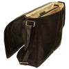 Messenger Bag - Black - Italian Buffalo Leather