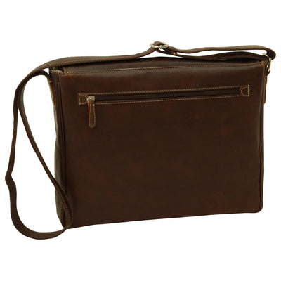 Messenger Bag - Dark Brown - Italian Buffalo Leather