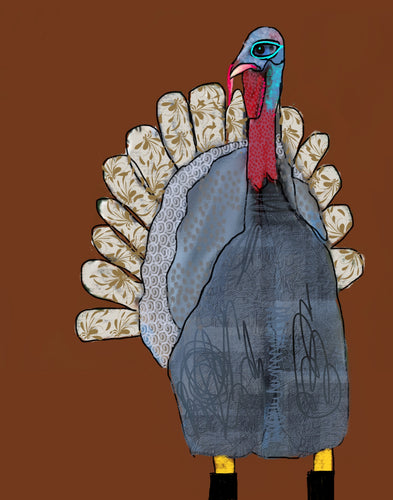 Card~ Denim Turkey