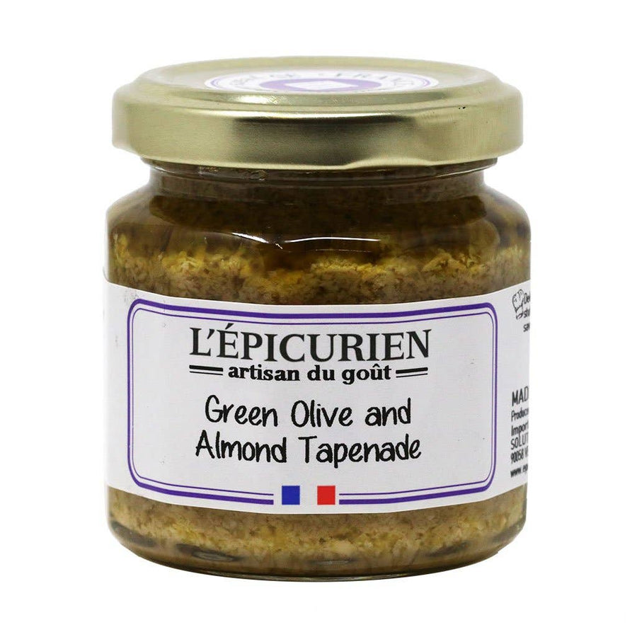 L'Epicurien - Green Olive & Almond Tapenade, 3.5oz (110g) Jar