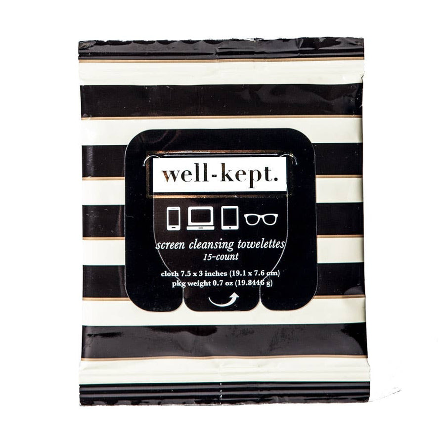 Well-Kept, Screen Cleansing Towelettes - Buckhead Screen Cleansing Towelettes/Tech Wipes