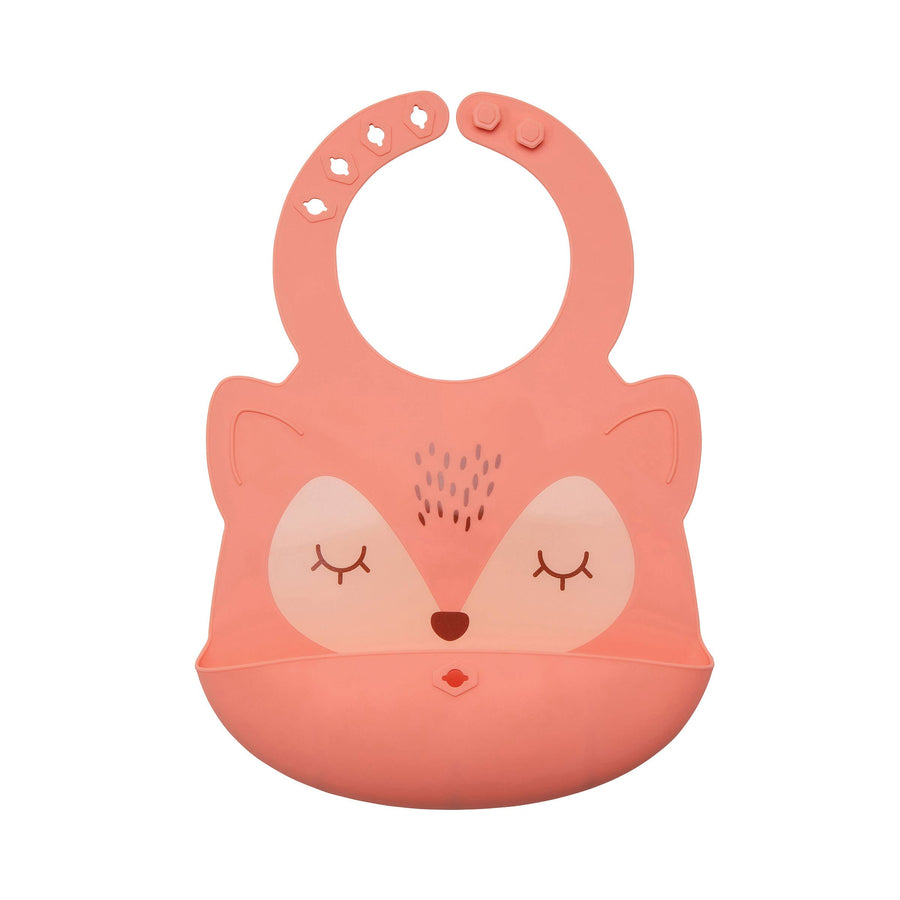 Tiny Twinkle - Silicone Roll-up Bib - Fox