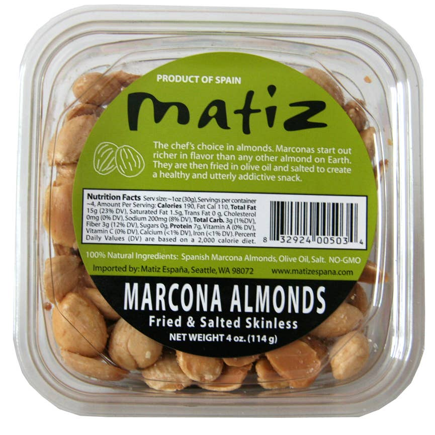 Matiz España - Matiz Marcona Fried Salted Tubs - 4oz