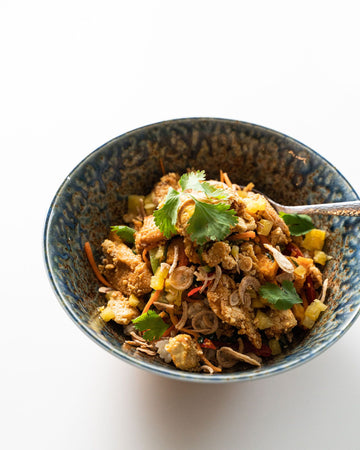 Sesame Pulled Pork Bowl with Rice
