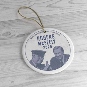 """Rogers/McFeely 2020"" Ceramic Ornaments - True Blue Gear"