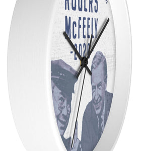 """Rogers/McFeely 2020"" Wall clock - True Blue Gear"