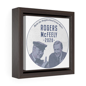"""Rogers/McFeely 2020"" Square Framed Premium Gallery Wrap Canvas - True Blue Gear"