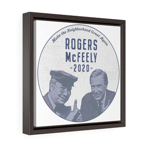 """Rogers/McFeely 2020"" Square Framed Premium Gallery Wrap Canvas"