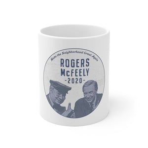 """Rogers/McFeely 2020"" White Ceramic Mug - True Blue Gear"
