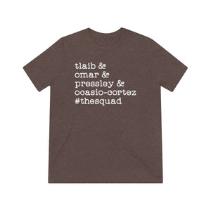 """The Squad"" Unisex Triblend Short Sleeve Tee - True Blue Gear"