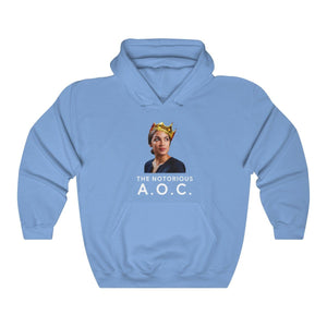 """The Notorious A.O.C."" Unisex Hoodie - True Blue Gear"