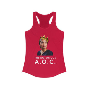 """The Notorious A.O.C."" Women's Racerback Tank"
