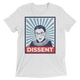 """RBG: DISSENT"" Unisex Tee - True Blue Gear"