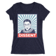 """RBG: DISSENT"" Women's Tee - True Blue Gear"