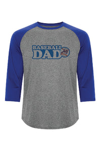 Chandail manche 3/4 Royal Baseball DAD- Jets