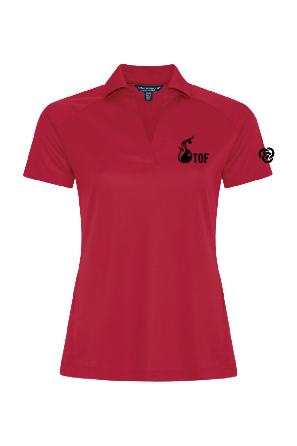 Polo femme rouge - Tof
