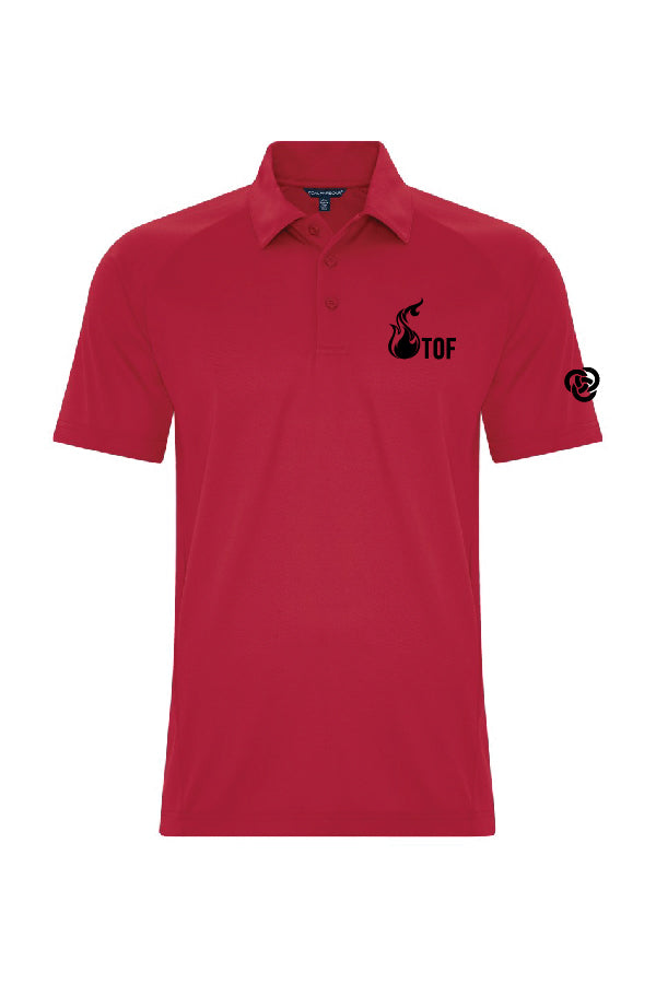 Polo homme rouge  - Tof