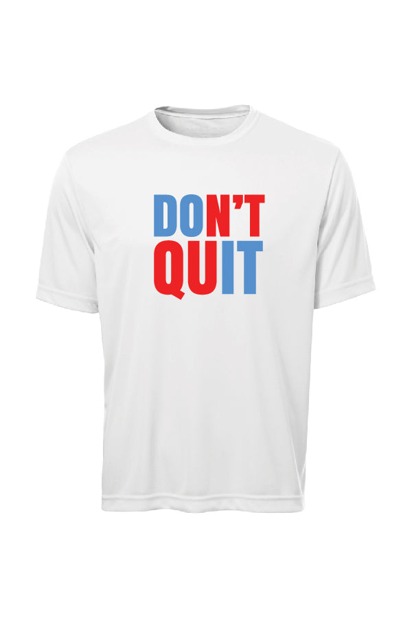 T-shirt blanc  - DON'T QUIT - Tof
