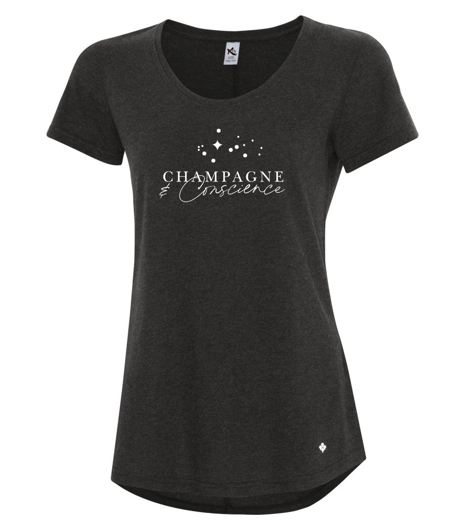 T-shirt coupe femme -Champagne & Conscience