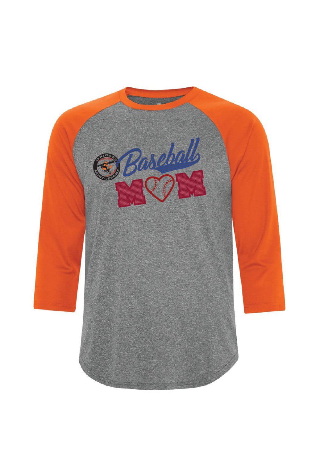 Chandail manche 3/4 Sublimé - Baseball MOM