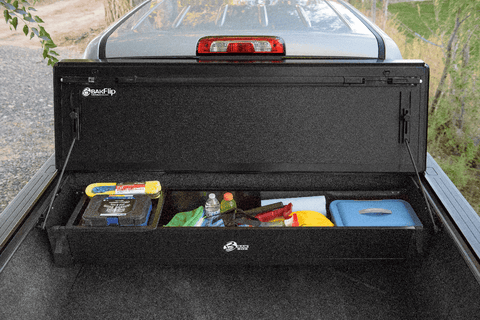 The BAKBox 2 toolbox that fits under your tonneau cover