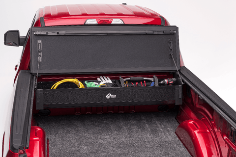 Collapsable truck tool box that fits underneath your truck bed cover