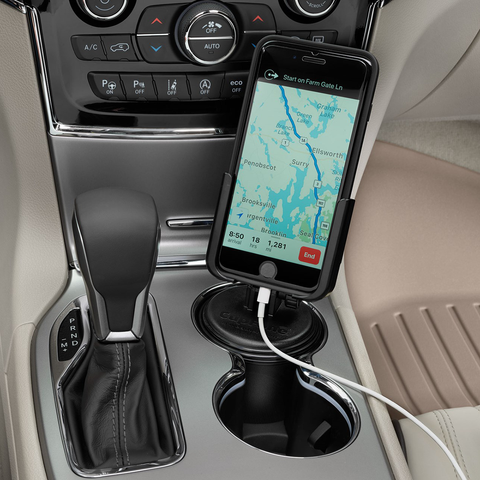 CupFone fits in most cupholders and works for most cellular devices