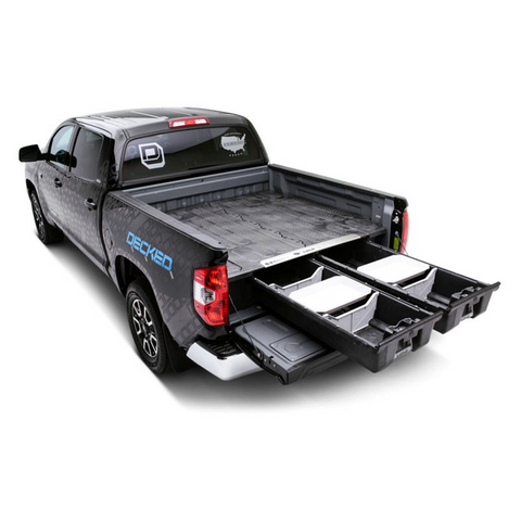 DECKED storage system and truck bed organizer