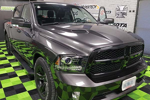 Dodge Ram 1500 Night Edition and our Studio Garage