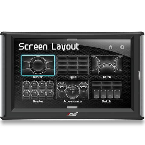 Customize the screen and layout on the Edge Evolution CTS2