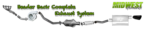 Header Back Complete Exhaust System