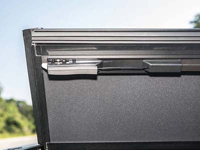 Injection Molded Latch provides additional security on Premium BAK lines of tonneau covers