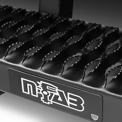 Close up tread on N-Fab Growler running boards