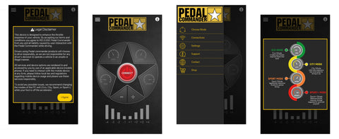 More great screenshots of the App for Bluetooth Edition Pedal Commander
