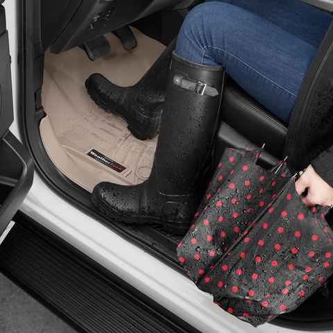 The WeatherTech Digital Fit Floor Liners are great for rainy days.