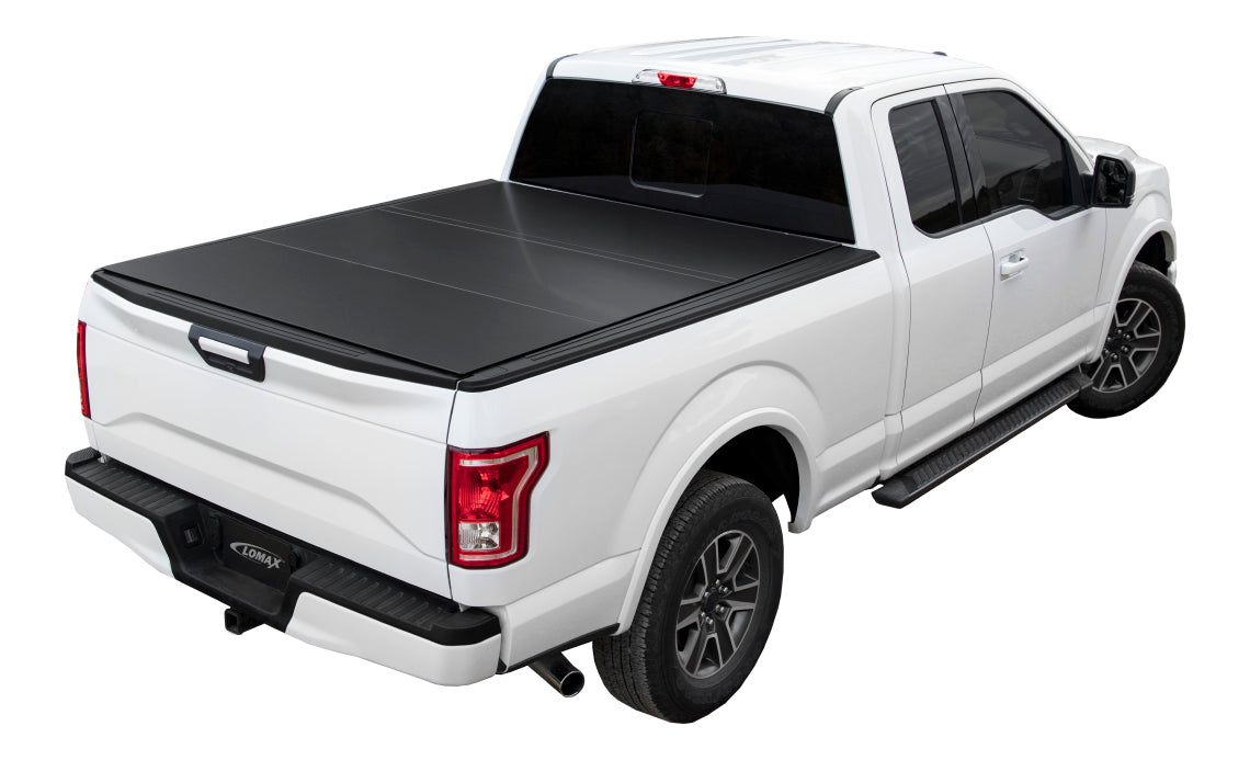 Lomax Hard Trifold Tonneau Cover For 2004 2019 Ford F 150 6 6 Bed