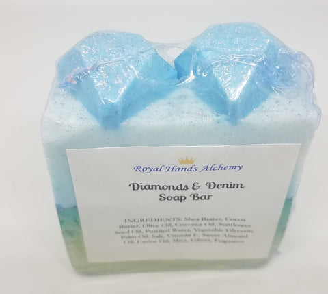 Diamonds & Denim Soap Bar