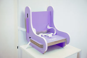 cardboard booster chair lilac